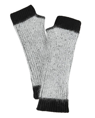 Colorblock Fingerless Gloves, GREY/BLACK, hi-res