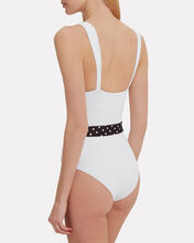 Betty One Piece Swimsuit, WHITE, hi-res