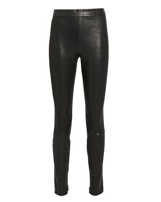 Melanie Leather Leggings, BLACK, hi-res