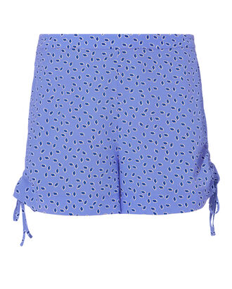Dinah Blue Dot Silk Shorts, MULTI, hi-res