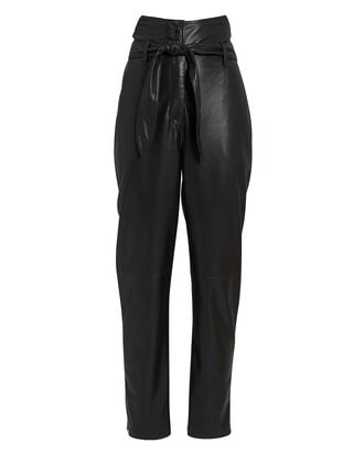 Ethan Leather Pants, BLACK, hi-res
