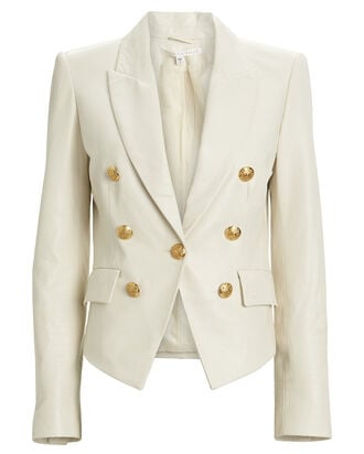 Cooke Leather Dickey Blazer, BONE, hi-res