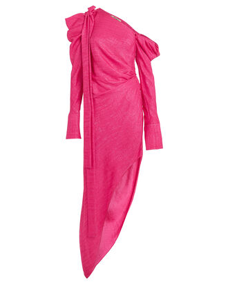 Loulou Asymmetrical Dress, PINK, hi-res