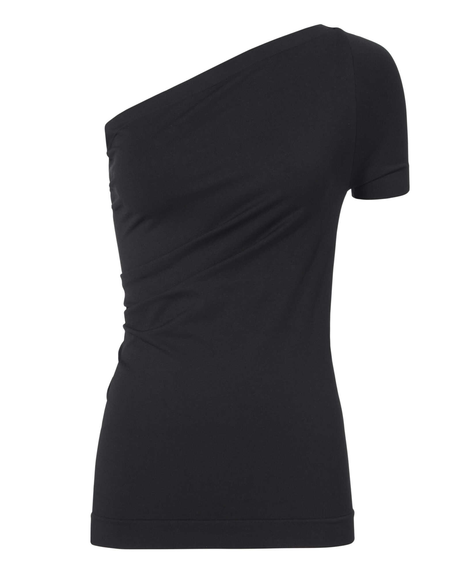 One-Shoulder Top, BLACK, hi-res