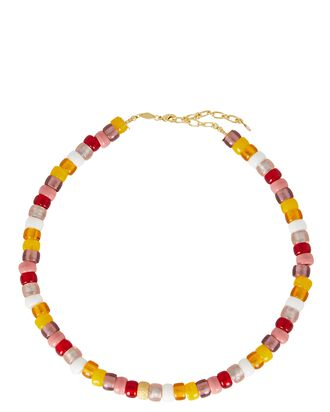 Poolside Tipsy Beaded Necklace, MULTI, hi-res