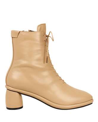 Lace-Up Beige Boots, BEIGE, hi-res