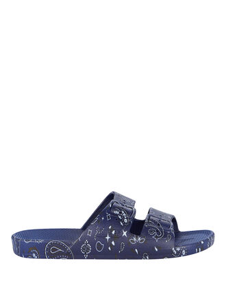 Luca Blue Bandana Moses Two Band Slide, NAVY, hi-res