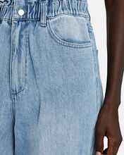 Paperbag Buckle Jeans, DENIM, hi-res