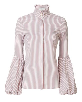 Jacqueline Striped Blouse, PATTERN, hi-res