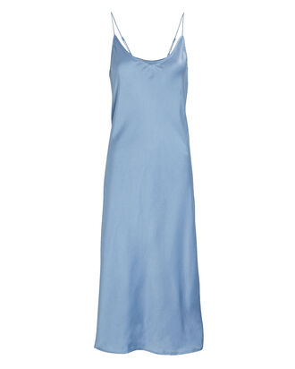 Terra Silk Slip Dress, PALE BLUE, hi-res
