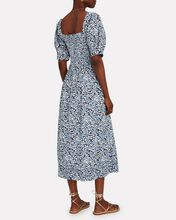 The Savanna Floral Midi Dress, BLUE/WHITE/BLACK, hi-res