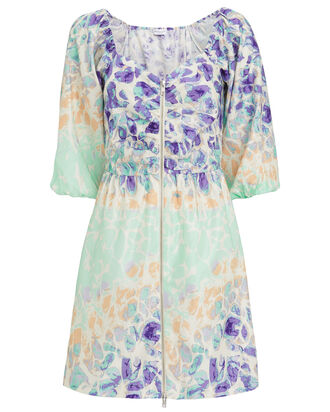 Alina Silk Voile Dress, PURPLE/MINT, hi-res