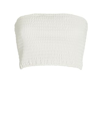 Davis Vegan Leather Bandeau Top, IVORY, hi-res