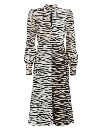Kennedy Tiger-Printed Shift Dress, BEIGE/TIGER PRINT, hi-res