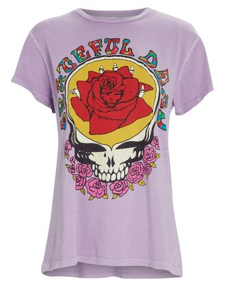 Grateful Dead Rose Graphic T-Shirt, LIGHT PURPLE, hi-res