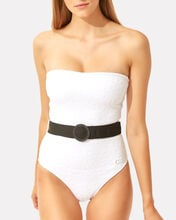 Madeline Strapless One-Piece Swimsuit, WHITE, hi-res