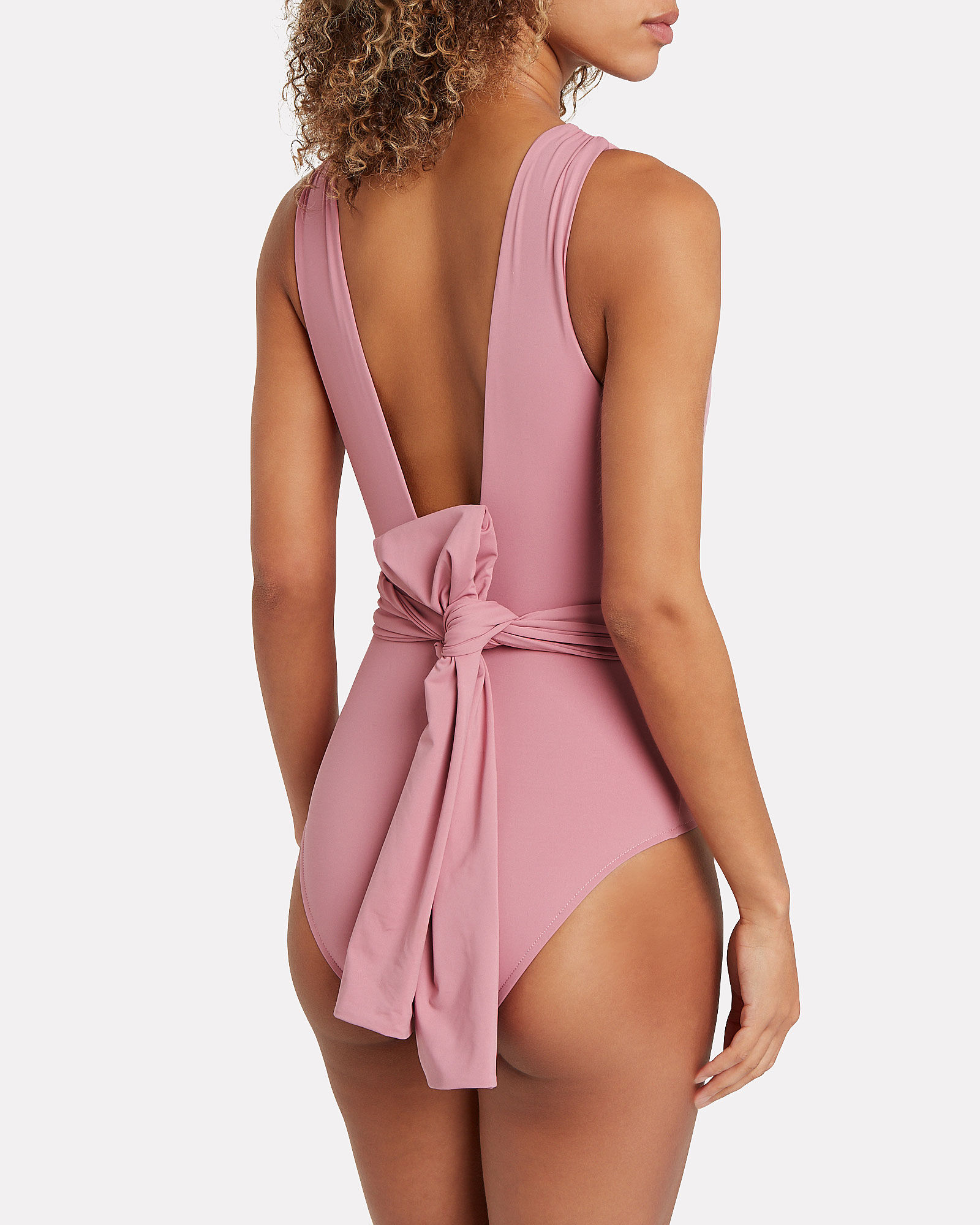 Addison Twisted One-Piece Swimsuit, PINK, hi-res