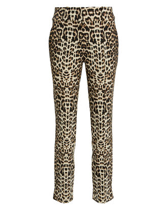 Leopard High-Rise Trousers, LEOPARD, hi-res