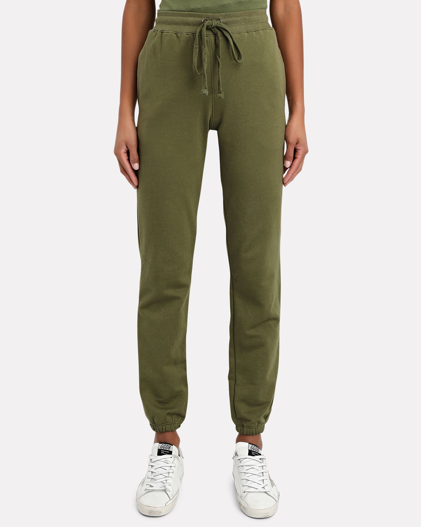 Pima Cotton Terry Joggers, OLIVE/ARMY, hi-res