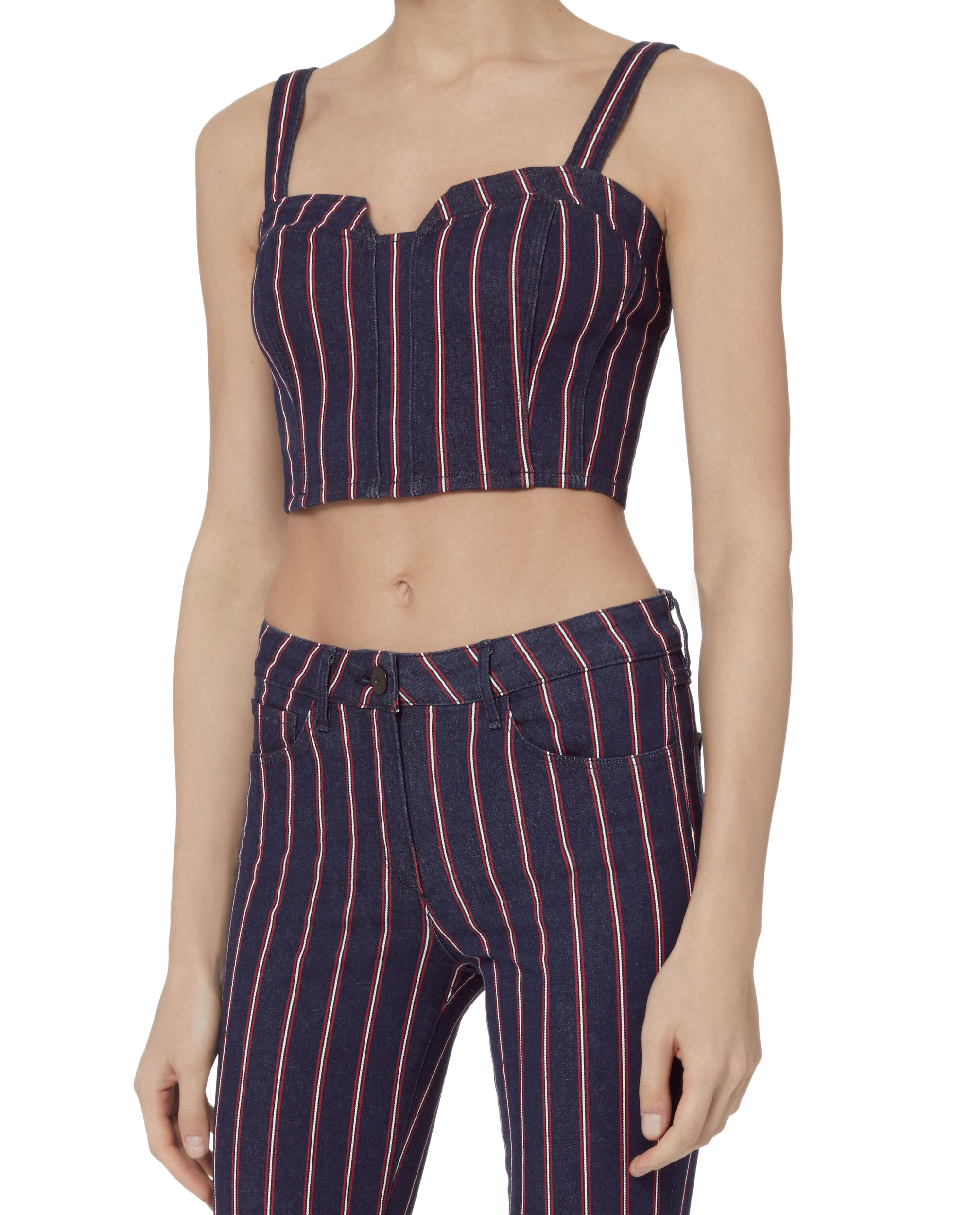 Tabby Striped Bustier Top, STRIPE, hi-res