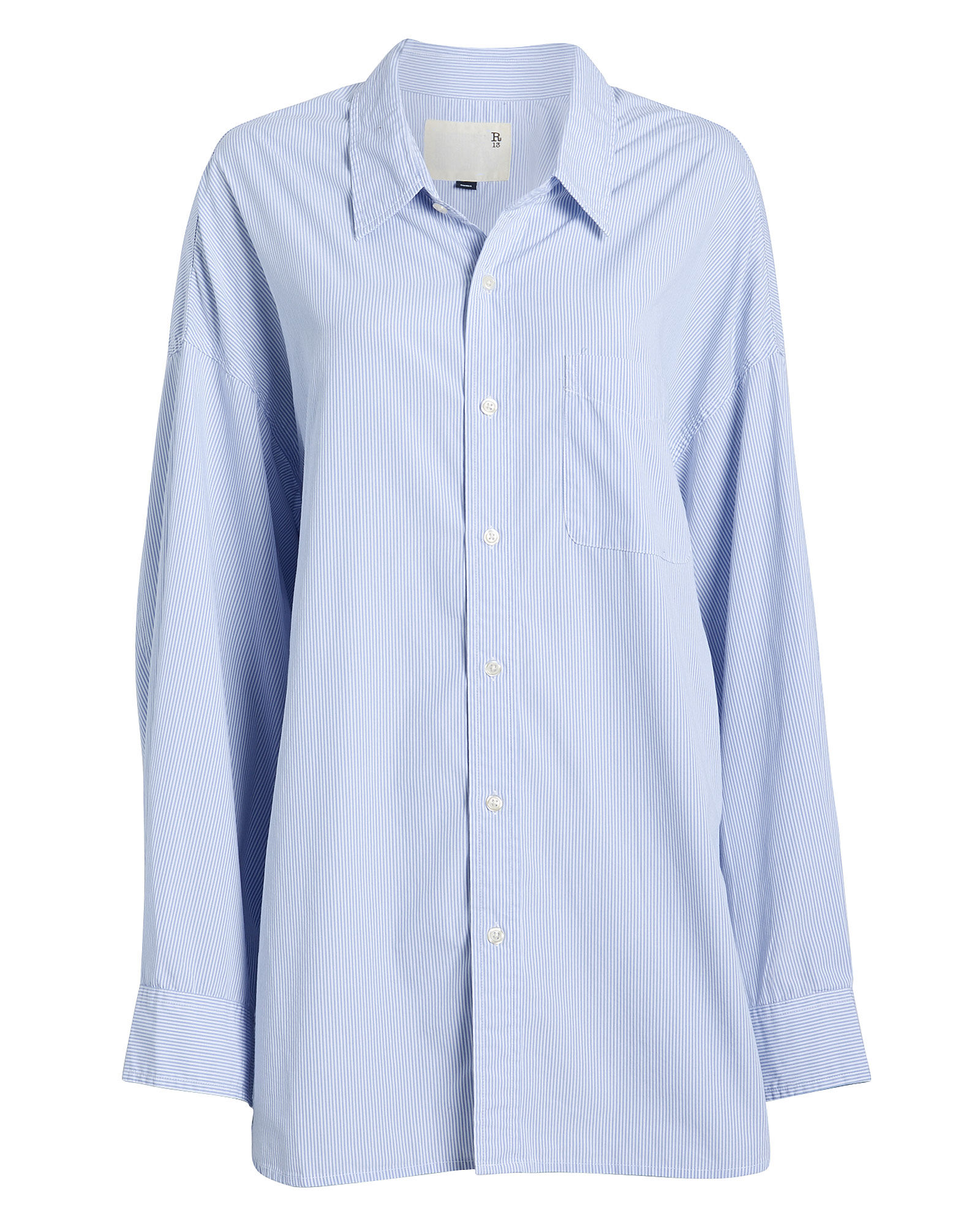Striped Oxford Poplin Shirt, MULTI, hi-res