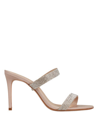 Beatriz Crystal-Embellished Leather Sandals, BEIGE, hi-res
