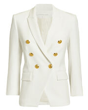 White Empire Blazer, WHITE, hi-res