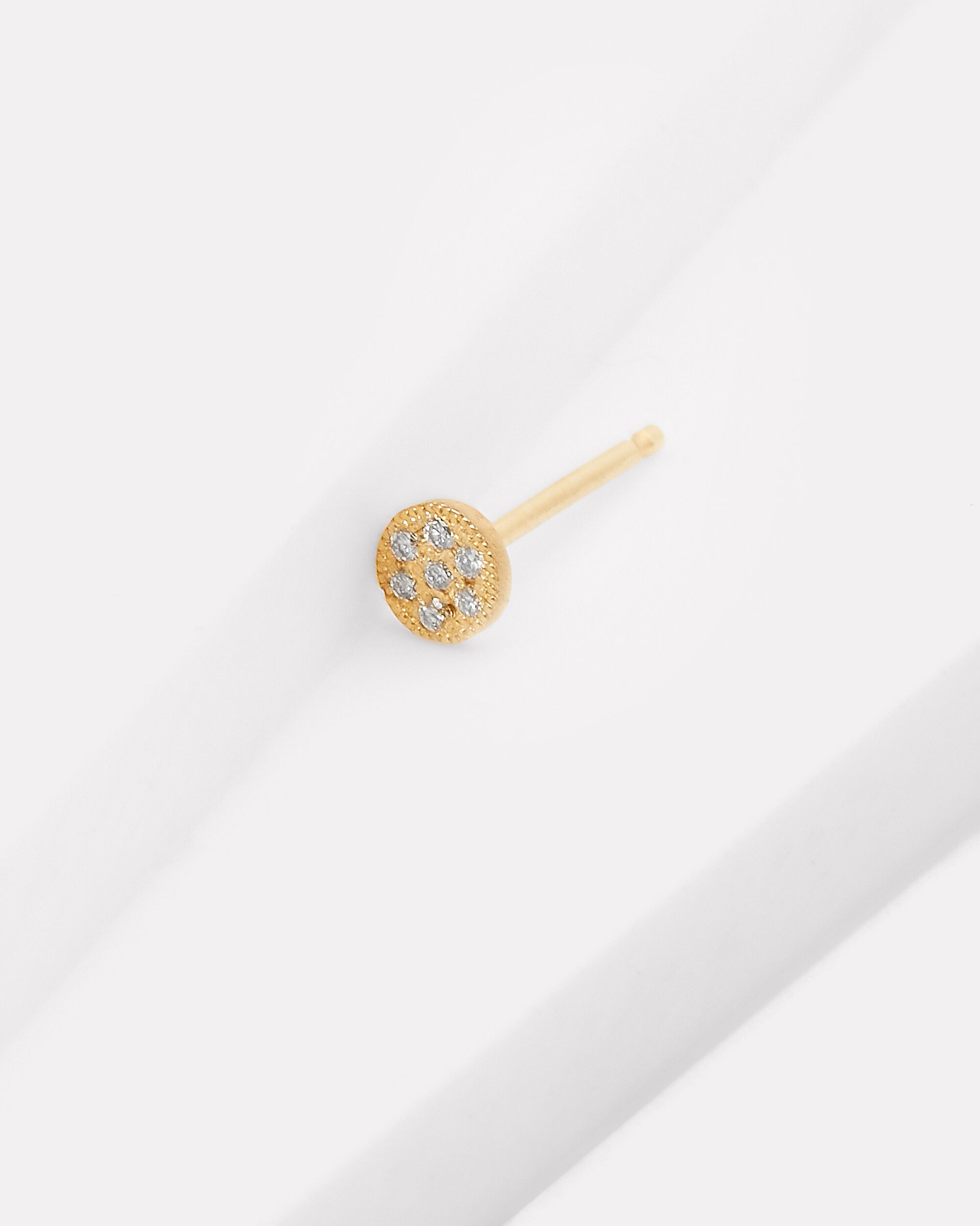Itty Bitty Round Stud Earring, GOLD, hi-res