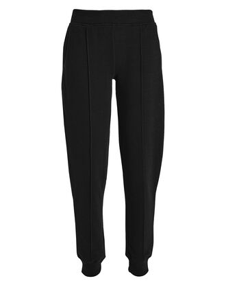 Pintucked French Terry Sweatpants, BLACK, hi-res