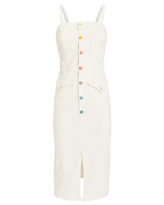 To The Point Denim Dress, WHITE, hi-res