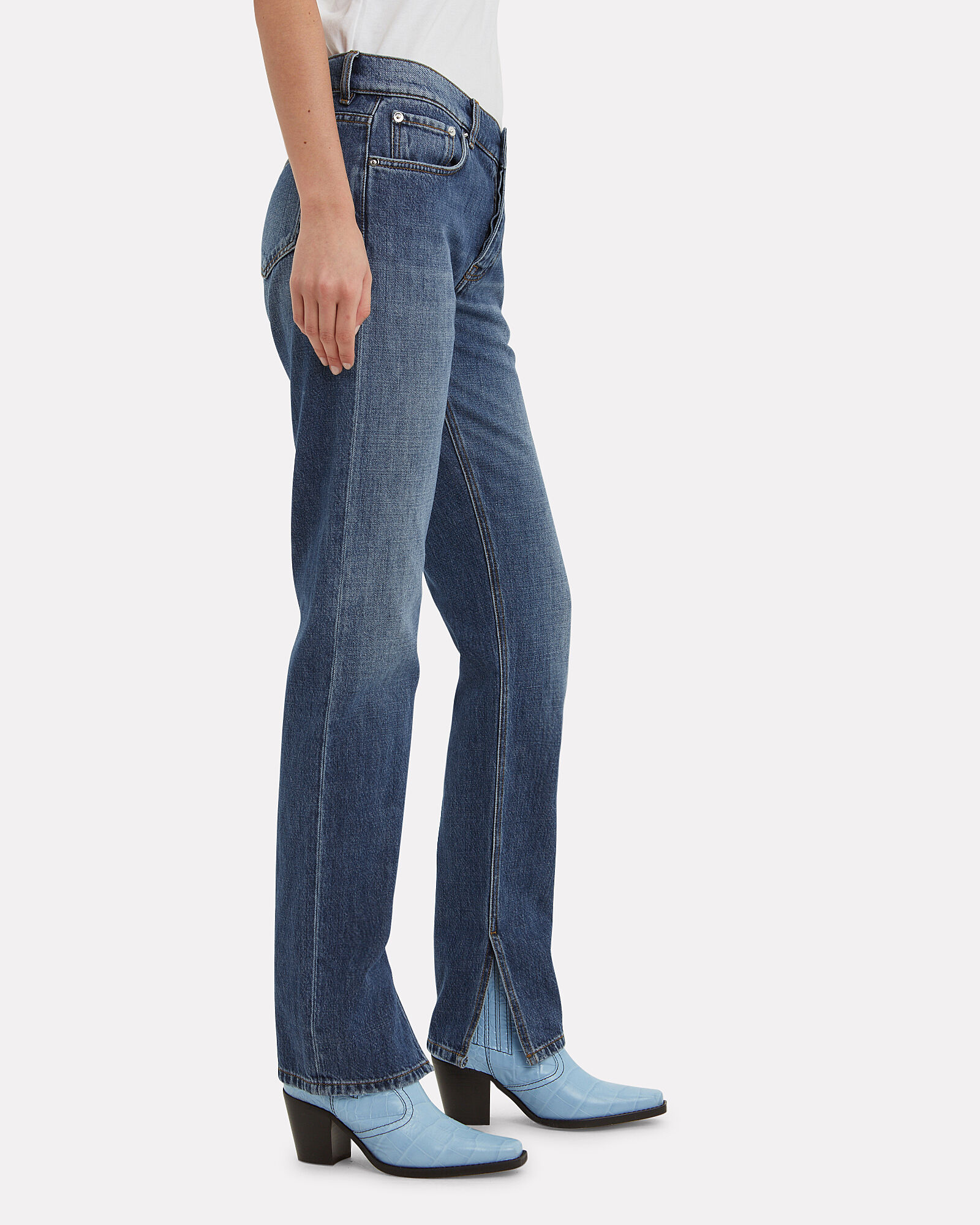 Overdyed Straight Leg Jeans, DENIM-DRK, hi-res