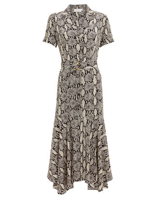 Clarkson Snakeskin Shirt Dress, GREY/SNAKESKIN, hi-res