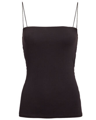 Essential Strappy Tank, BLACK, hi-res