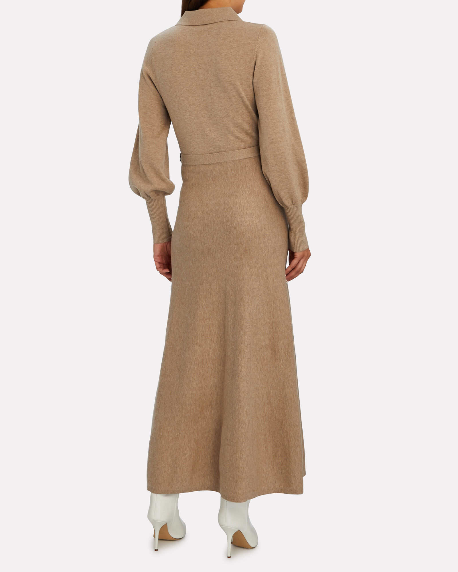 Katya Cotton-Wool Maxi Sweater Dress, BEIGE, hi-res
