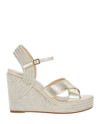 Dellena 100 Espadrille Wedges, GOLD, hi-res
