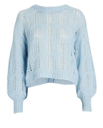 Eugenia Bow Back Sweater, BLUE-LT, hi-res