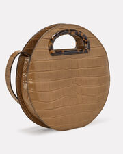 Indy Embossed Circle Crossbody, BROWN, hi-res