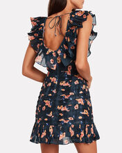 Chain Of Fire Floral Mini Dress, NAVY/FLORAL, hi-res