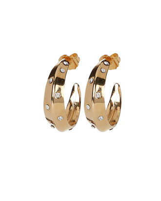Swami Beach Hoop Earrings, GOLD, hi-res