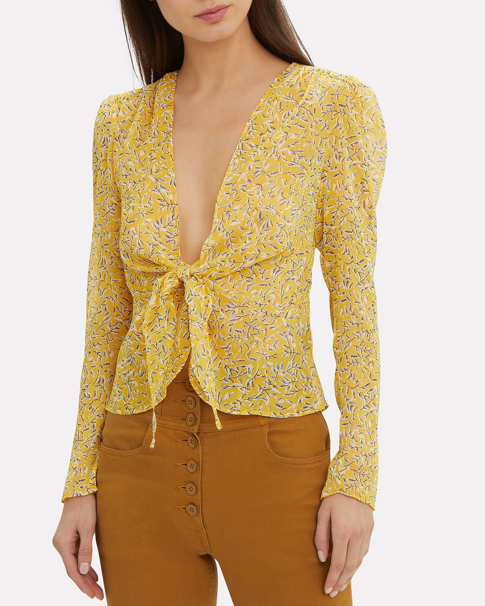 Ry Tie Front Top, MULTI, hi-res