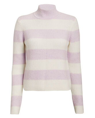 Ruby Striped Turtleneck, IVORY, hi-res