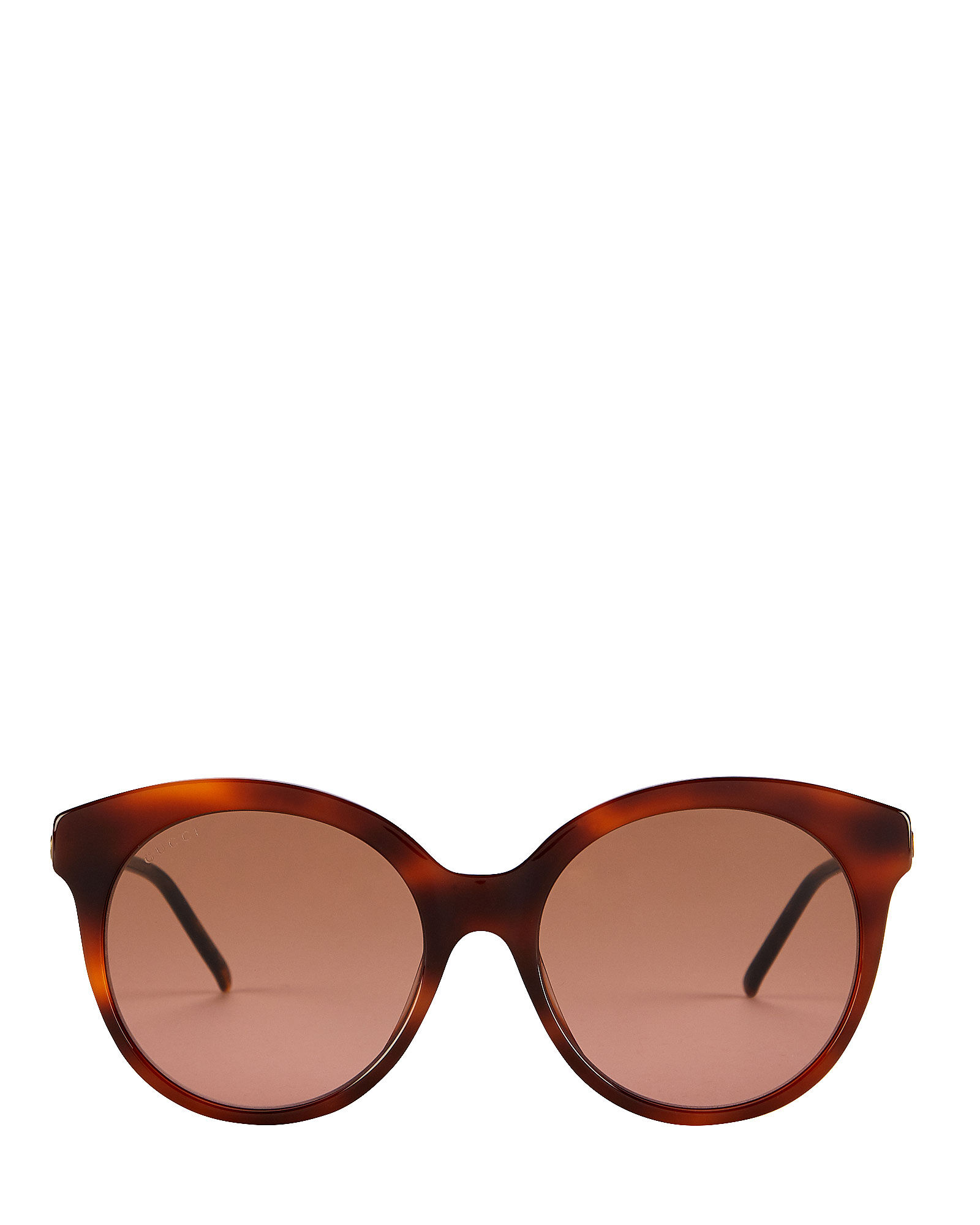 Vintage Havana Round Cat Eye Sunglasses, BROWN, hi-res