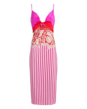 Tropical Twisted Midi Dress, PINK/RED/WHITE, hi-res