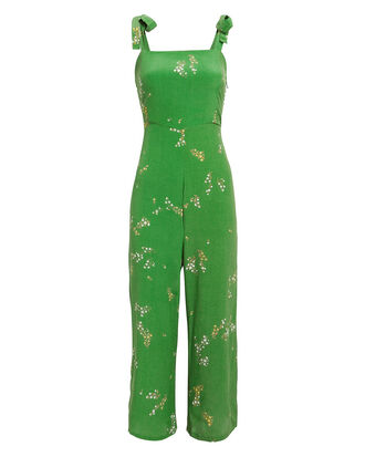 Elsa Jumpsuit, GREEN FLORAL, hi-res