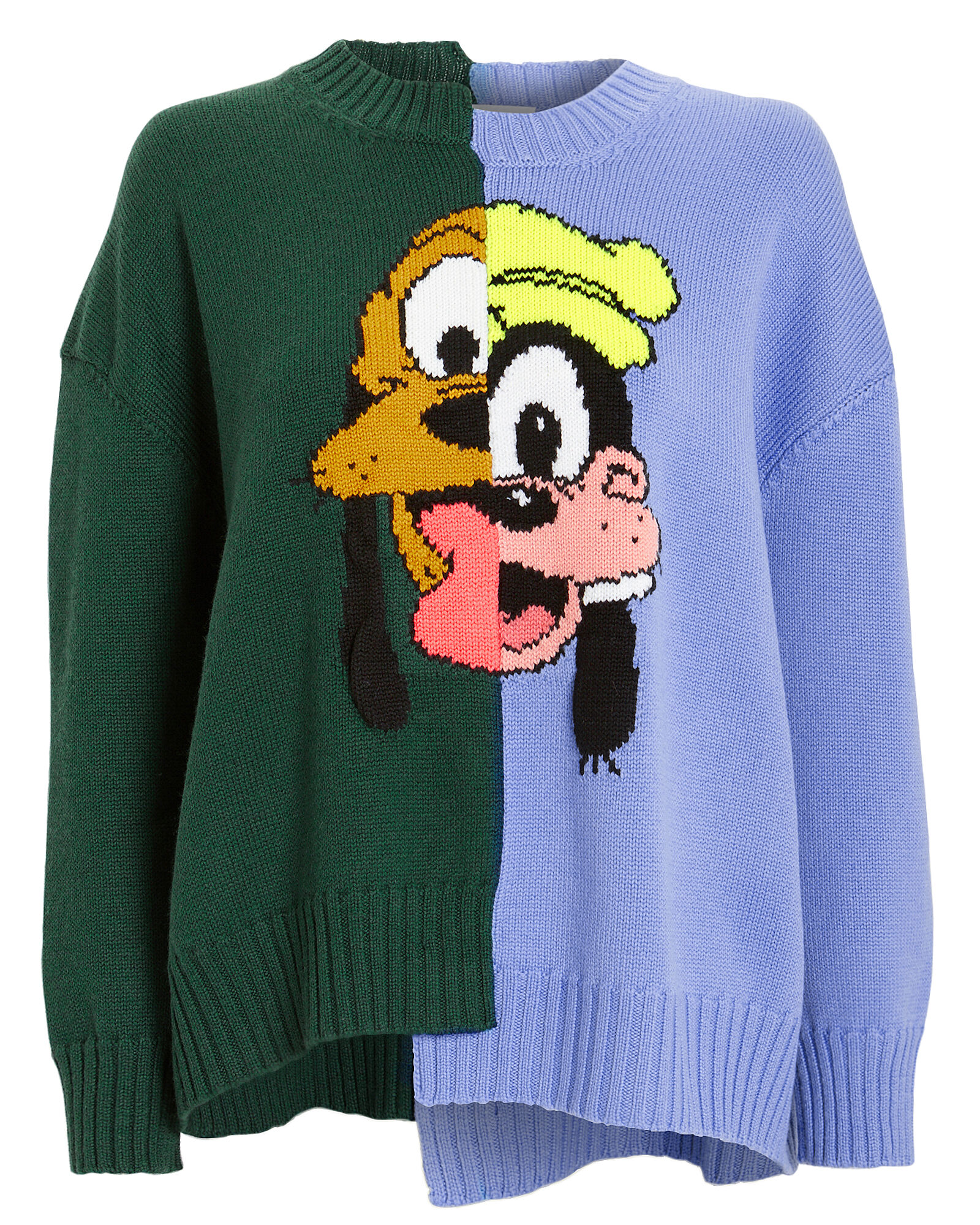 Pluto and Goofy Merino Wool Sweater, BLUE/GREEN, hi-res