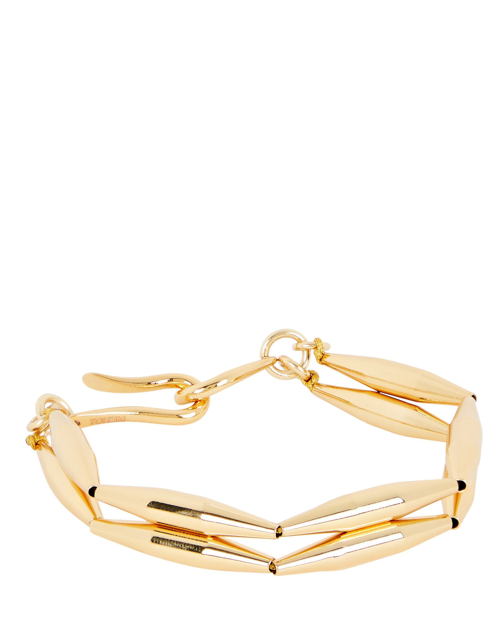 Maia Double Geometric Tube Bracelet, GOLD, hi-res