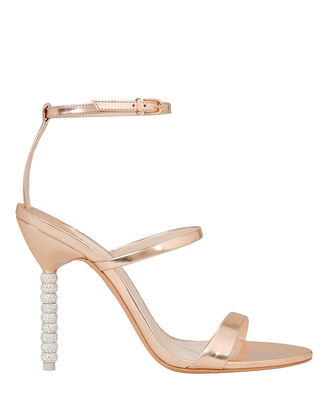 Rosalind Rose Gold Crystal Heel Sandals, ROSE GOLD, hi-res
