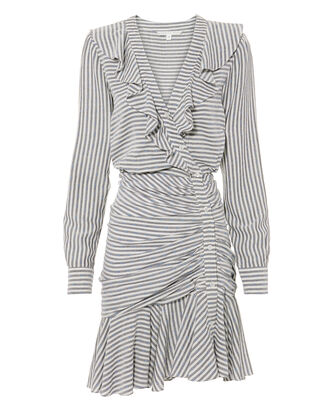 Kai Ruffle Striped Mini Dress, BLUE-LT, hi-res
