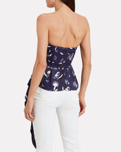 Botanical Asymmetric Bustier Top, MULTI, hi-res