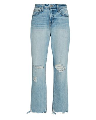 Eliot Distressed Boyfriend Jeans, LIGHT WASH DENIM, hi-res